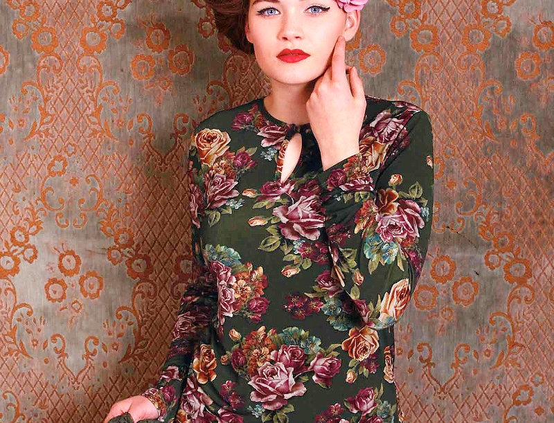 Lalamour Roses Top Green