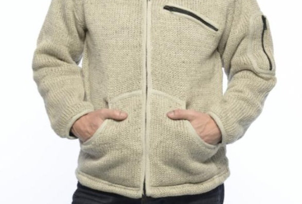 Ixtlan Unisex Wollen Vest met rits & borst zakje