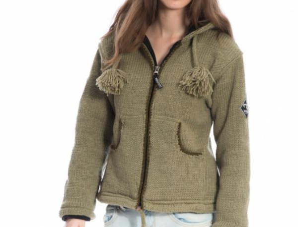 IXTLAN  Gevoerd Wollen Vest met capuchon