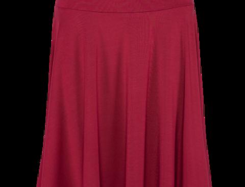 LaLamour Circle Skirt Plain Bordeau