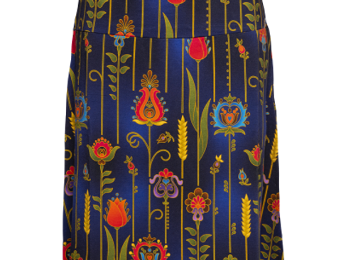 LaLamour A-Line Skirt Folky Blue