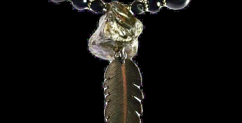 Boho Choker Rookkwarts & Obsidiaan
