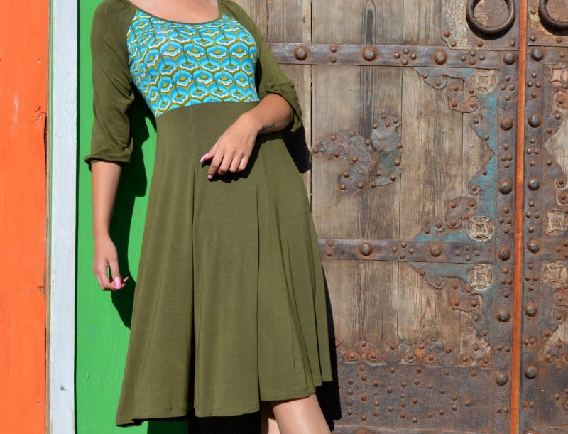 LaLamour Retro Flaired  Dress Green