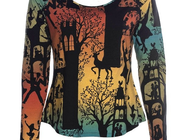 """Lalamour Loose Shirt """"Dans palace"""" Green"""