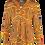 Thumbnail: LaLamour Blouse Long Sleeves Wave Orange Taupe