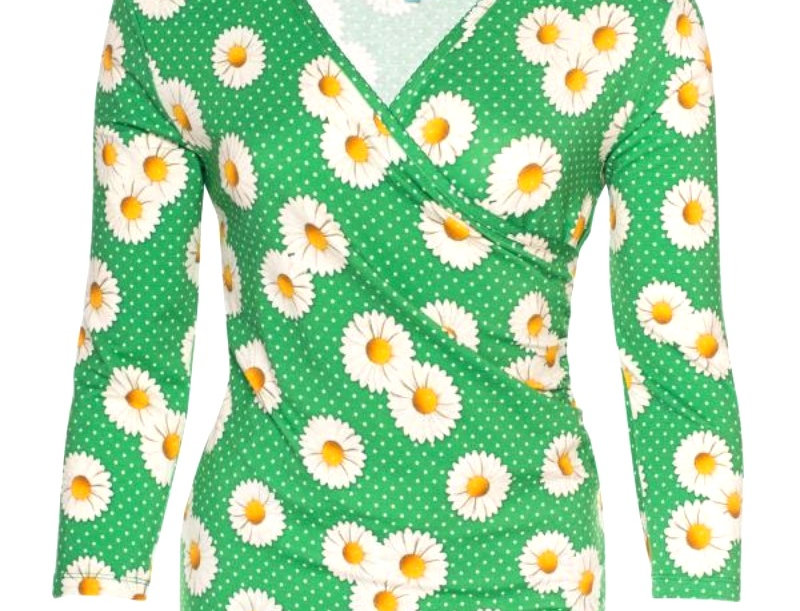 LaLamour Daisy Wrap Shirt Green