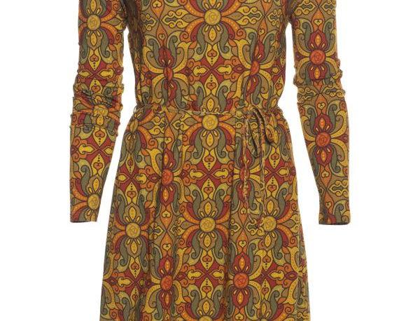 "LaLamour Tunic  Dress Long Sleeve  ""Oriënt"" Green Brick"