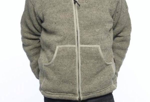 IXTLAN  Gevoerd Wollen Vest met rits UNISEX