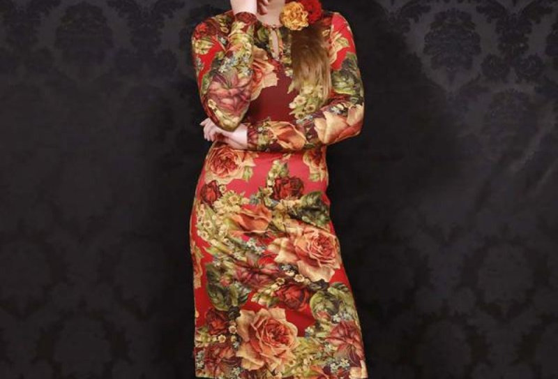 """LaLamour Dress  High""""Wild"""" Red"""