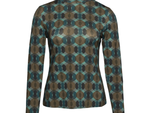 LaLamour T-Shirt Turtle Neck Seventies Petrol
