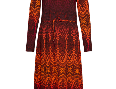LaLamour Long Tunic Dress Lace Red