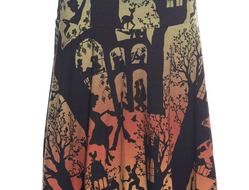 "Lalamour Skirt Circle Skirt ""Dans palace"" Green"