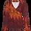 Thumbnail: LaLamour Wrap Shirt Lace Red