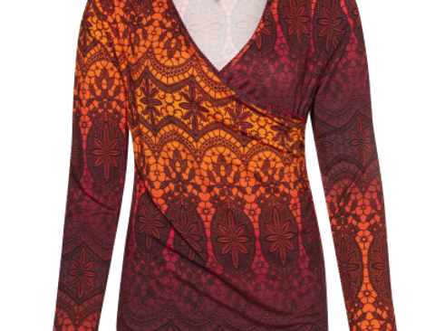 LaLamour Wrap Shirt Lace Red