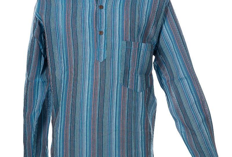 Ixtlan Blauw Nepal Overhemd