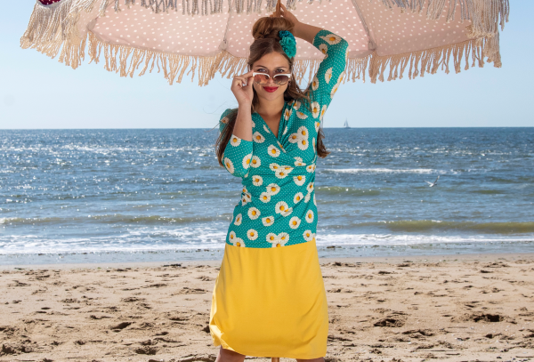 Lalamour  A-Line Skirt Yellow