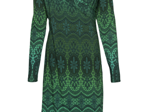 LaLamour Classic Wrap Dress  Lace Green