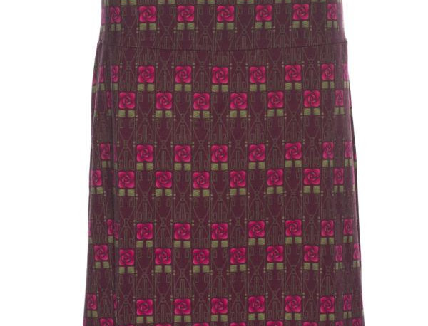 "Lalamour Skirt ""Square Rose"" Bordeaux"