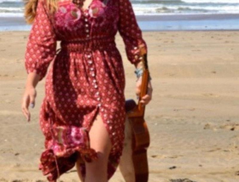 LaLamour Summery Dress Bordeaux
