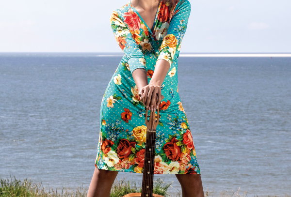 LaLamour Roses Wrap Dress Turquoise