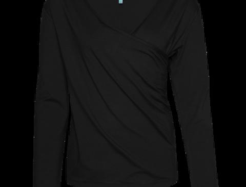 LaLamour Wrap Shirt Black