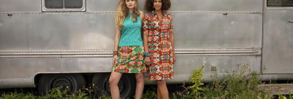 Organic LaLamour A-Line Skirt Rose Green