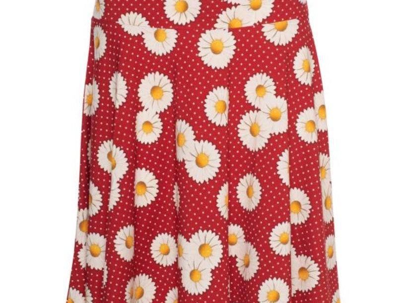 Lalamour  Circle Skirt  Daisy Red