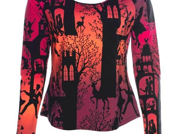 "Lalamour Loose Shirt ""Dans palace"" Red"
