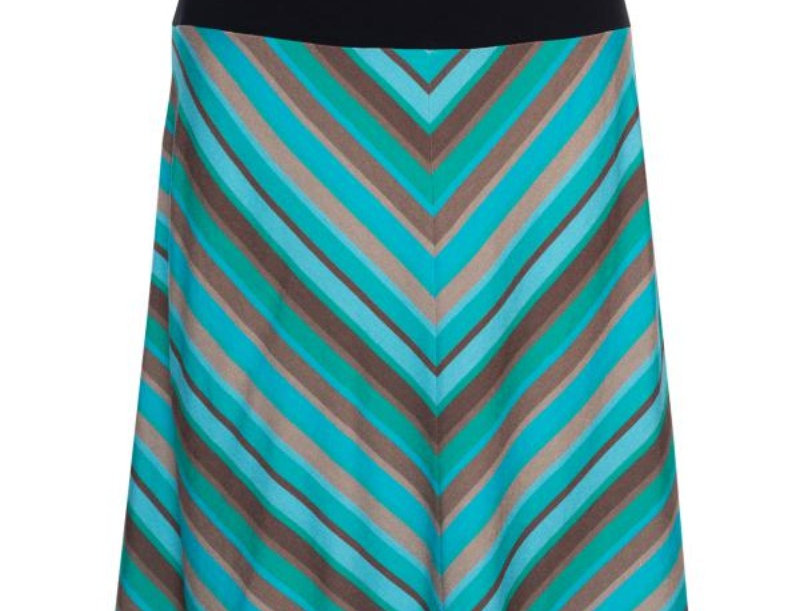 Lalamour A-line  Retro Skirt  Stripe Turquoise