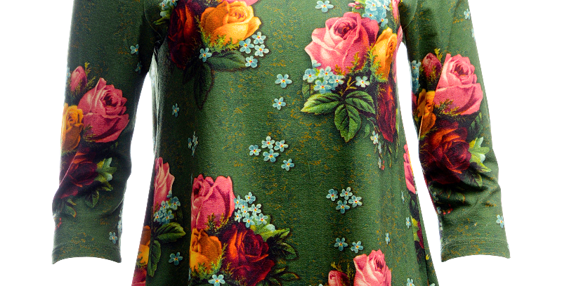 LaLamour 'Bouquet' Top Green