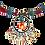Thumbnail: Boho Choker Lava & Millefiori glas