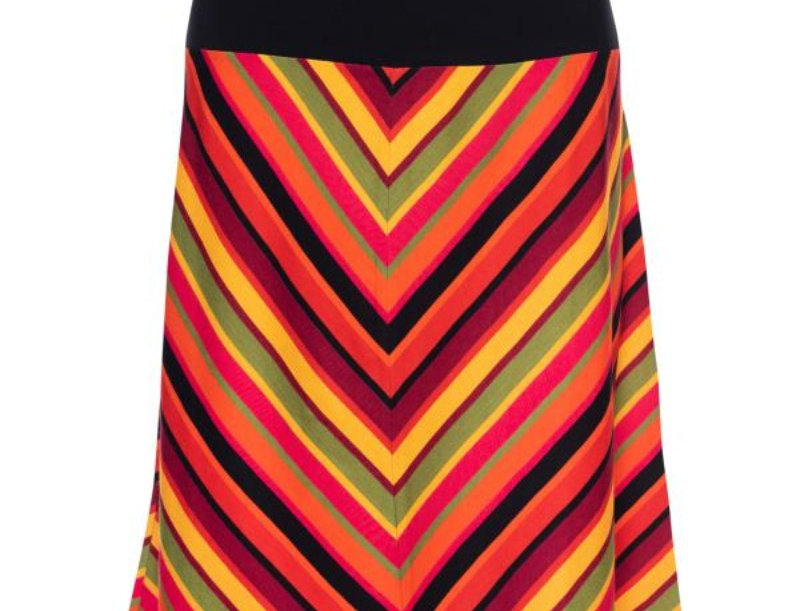 Lalamour  Retro A-Line Skirt Stripe Red