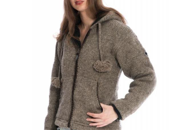 IXTLAN  Gevoerd Wollen Vest met rits