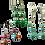Thumbnail: Reversibel oorbellen. Turkoois howliet & Multi collor Set van 3.