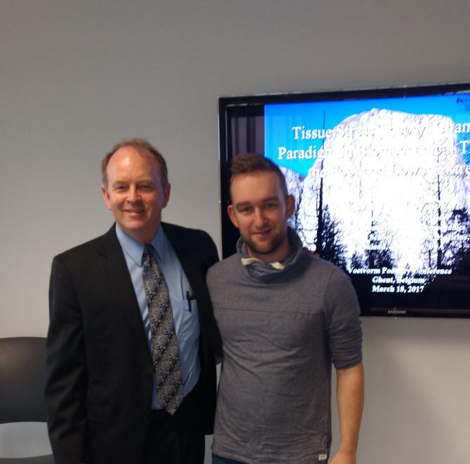 Hoog bezoek! Dr. Kevin Kirby (USA), pionier in de podologiewereld kwam zijn kennis delen