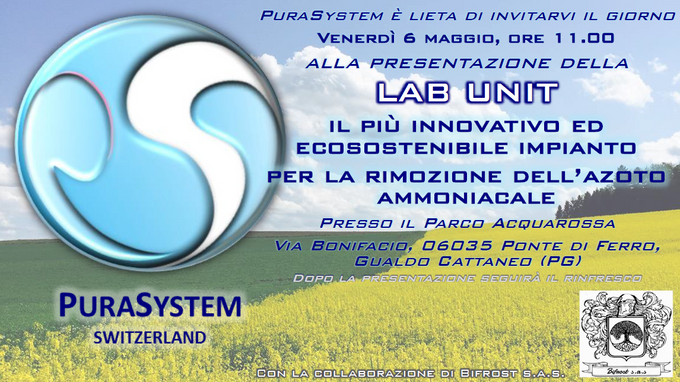 May 6: Presentation Lab Unit and Plant PuraSystem in the province of Perugia (ITA)