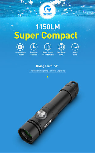 S11 1150lumens Diving Torch