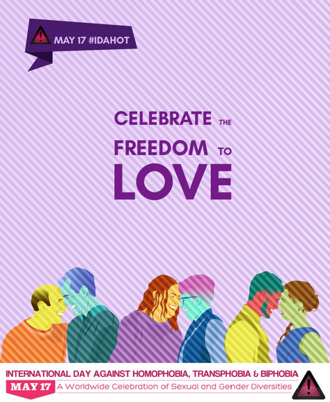 International Day Against Homophobia, Transphobia and Biphobia #IDAHOT2018