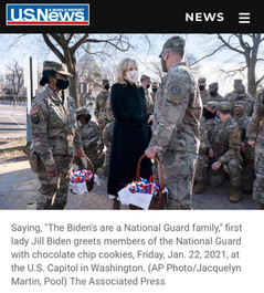 Sickening. Biden's fix for thousands of troops forced to sleep in a garage? Cookies.