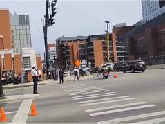 Massive Crowd of 20 Greets Fake Biden in Columbus