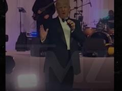 🎥 WATCH: Donald Trump Crashes Mar-a-Lago Wedding Reception Sat Night, Gives Speech