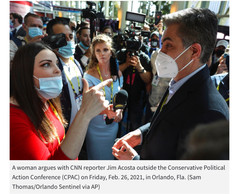 """Watch 🎥 """"CNN SUCKS!""""Jim Acosta Confronted and Badgered at CPAC"""
