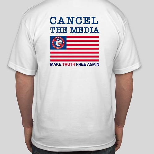 Cancel The Media Cotton T Shirt
