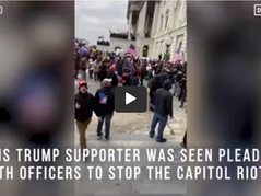WATCH: New Videos Show Protestors Begging Capitol Police To Stop Violence