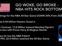 Get Woke, Go Broke: NBA All-Star Ratings Crash, Hit All-Time Low