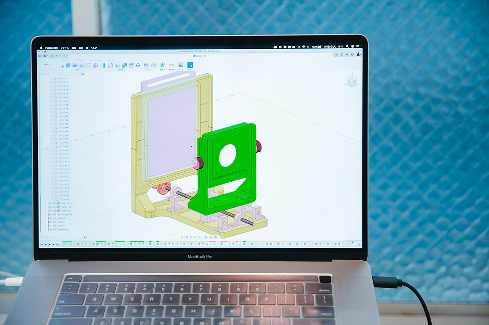 湿板写真 再設計 3D デザイン