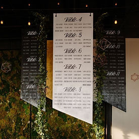 Right as Rayne Events Seating Chart Wedding Event Planning