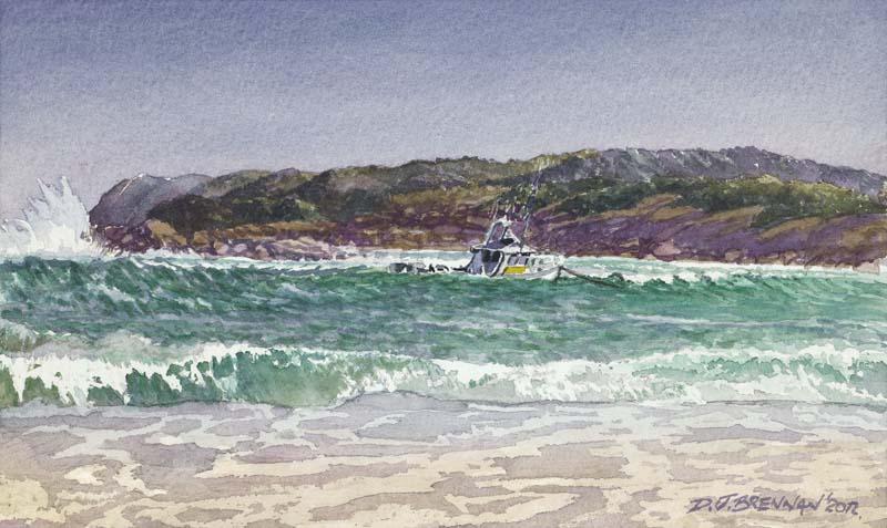 Boat in Storm Peaceful Bay WA