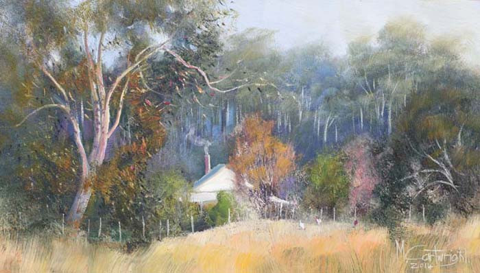 Nestled among the gum trees this beautiful country cottage is typical of many near the south coast of Western Australia.
