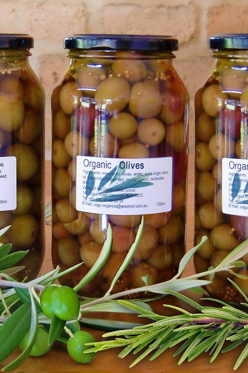 PICKLED OLIVES ROSEMARY  750ml Jar